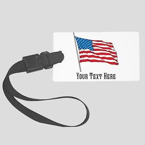 Custom US Flag Design Luggage Tag