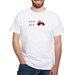 Farm Girl Tractor White T-Shirt