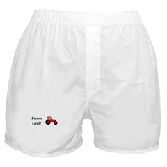 Farm Girl Tractor Boxer Shorts