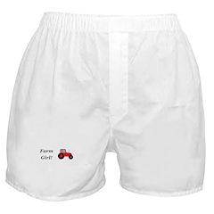 Farm Girl Tractor Boxer Shorts
