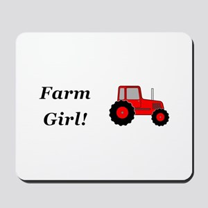 Farm Girl Tractor Mousepad