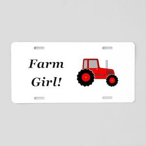 Farm Girl Tractor Aluminum License Plate