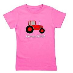 Farm Girl Tractor Girl's Tee