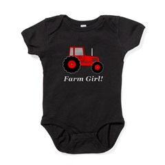 Farm Girl Tractor Baby Bodysuit