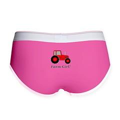 Farm Girl Tractor Women's Boy Brief