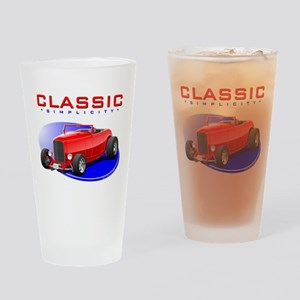Classic Hot Rod Drinking Glass