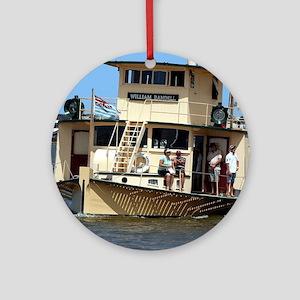 Paddle steamer, Goolwa, Australia Round Ornament