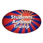 Students Against Trump Oval Sticker