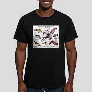 Cuttlefish & Squid of Men's Fitted T-Shirt (dark)