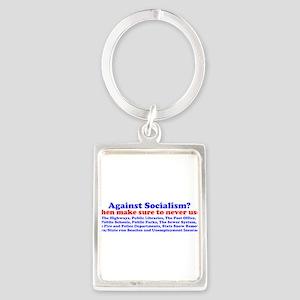 Socialism Bumper Stickep Keychains