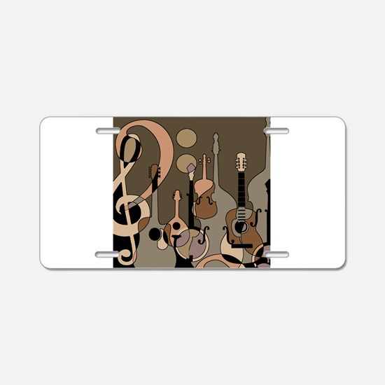 Cute Jazz music Aluminum License Plate