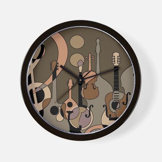 Cute Banjos Wall Clock