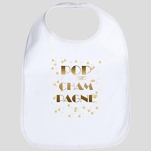 Girly pop the champagne Baby Bib
