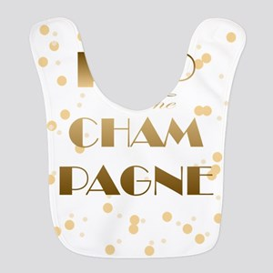 Girly pop the champagne Polyester Baby Bib