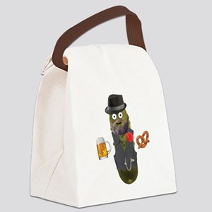 Pup Hipster Pickle Canvas Lunch Bag