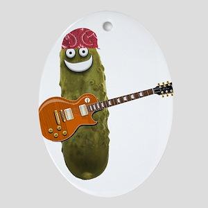 Rocker Pickle Oval Ornament