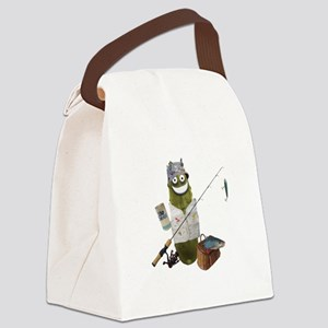 Fishing Pickle Canvas Lunch Bag