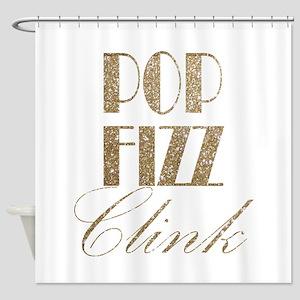 Champagne Pop Fizz Clink Shower Curtain