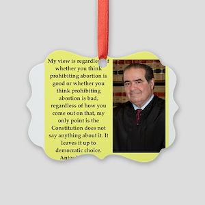 Antonin Scalia quote Ornament