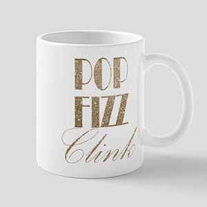 champagne pop fizz clink Mugs