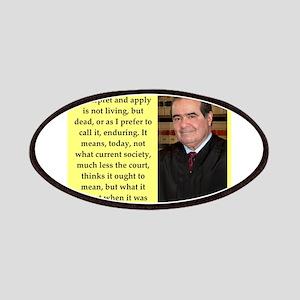 Antonin Scalia quote Patch