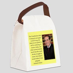Antonin Scalia quote Canvas Lunch Bag