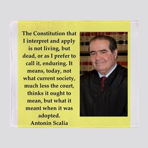 Antonin Scalia quote Throw Blanket