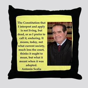 Antonin Scalia quote Throw Pillow
