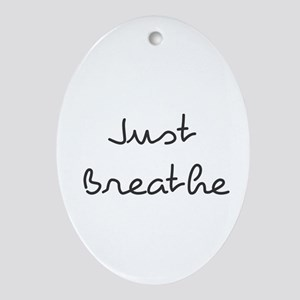 Just Breathe Oval Ornament