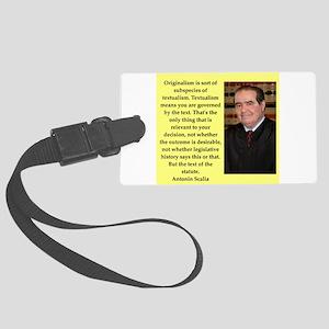 Antonin Scalia quote Luggage Tag