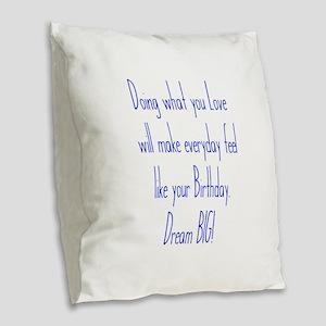 Everyday Birthday Burlap Throw Pillow