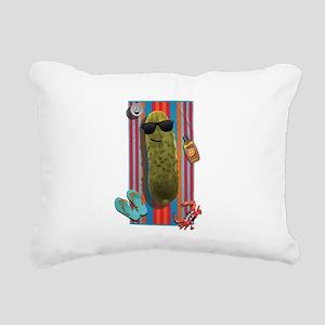 Beach Pickle Rectangular Canvas Pillow