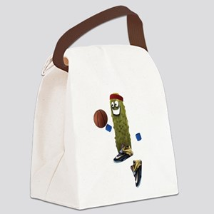 Basketball Pickle Canvas Lunch Bag