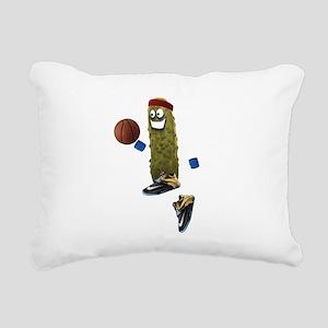 Basketball Pickle Rectangular Canvas Pillow