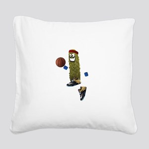 Basketball Pickle Square Canvas Pillow