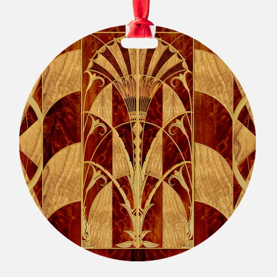 Harvest Moons Art Deco Panel Ornament