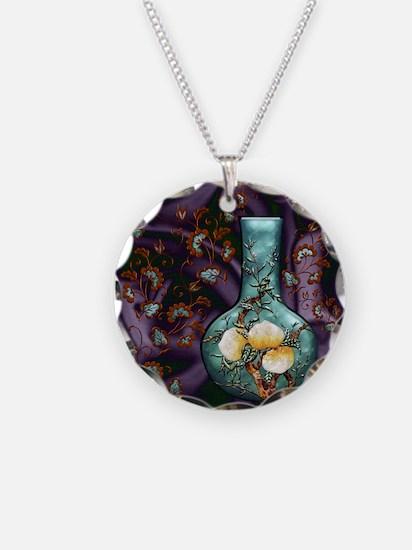Harvest Moons Peach Vase Necklace