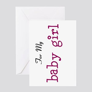 For My Girl Note Card Greeting Cards