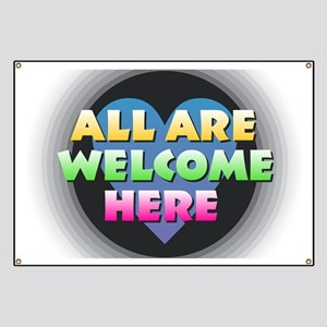 All Are Welcome Here Banner