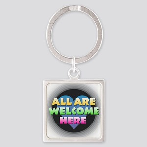 All Are Welcome Here Keychains