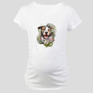 Puppy Dog Art Maternity T-Shirt