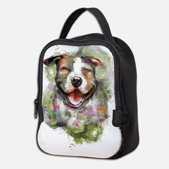 Puppy Dog Art Neoprene Lunch Bag