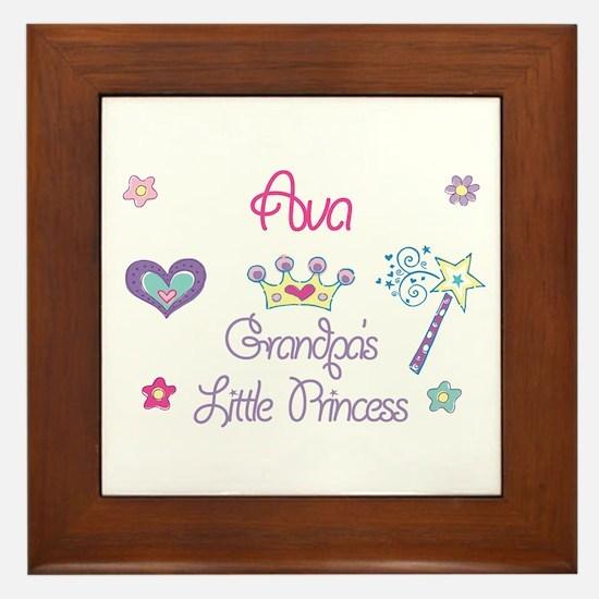 Ava - Grandpa's Little Prince Framed Tile