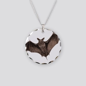 Bat Necklace Circle Charm