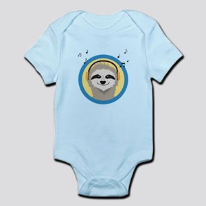 Cool Sloth is hearing music Body Suit