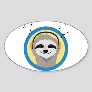 Cool Sloth is hearing music Sticker