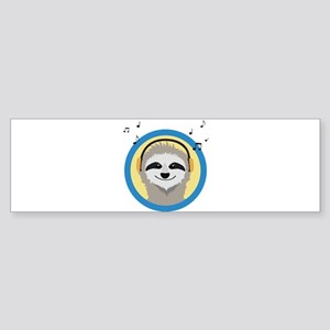 Cool Sloth is hearing music Bumper Sticker