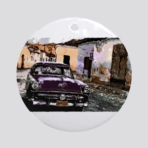 Streets of cuba Round Ornament