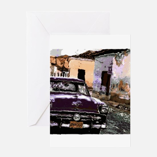 Streets of cuba Greeting Cards