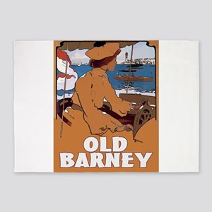 Old Barney Lighthouse 5'x7'Area Rug